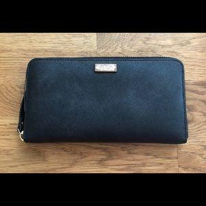 Kate Spade Zip-Around Continental Wallet (Black)